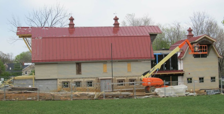 Barns of Rose Hill During Construction
