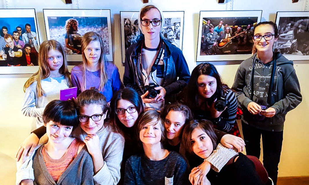 Students at Free Photography Workshop.