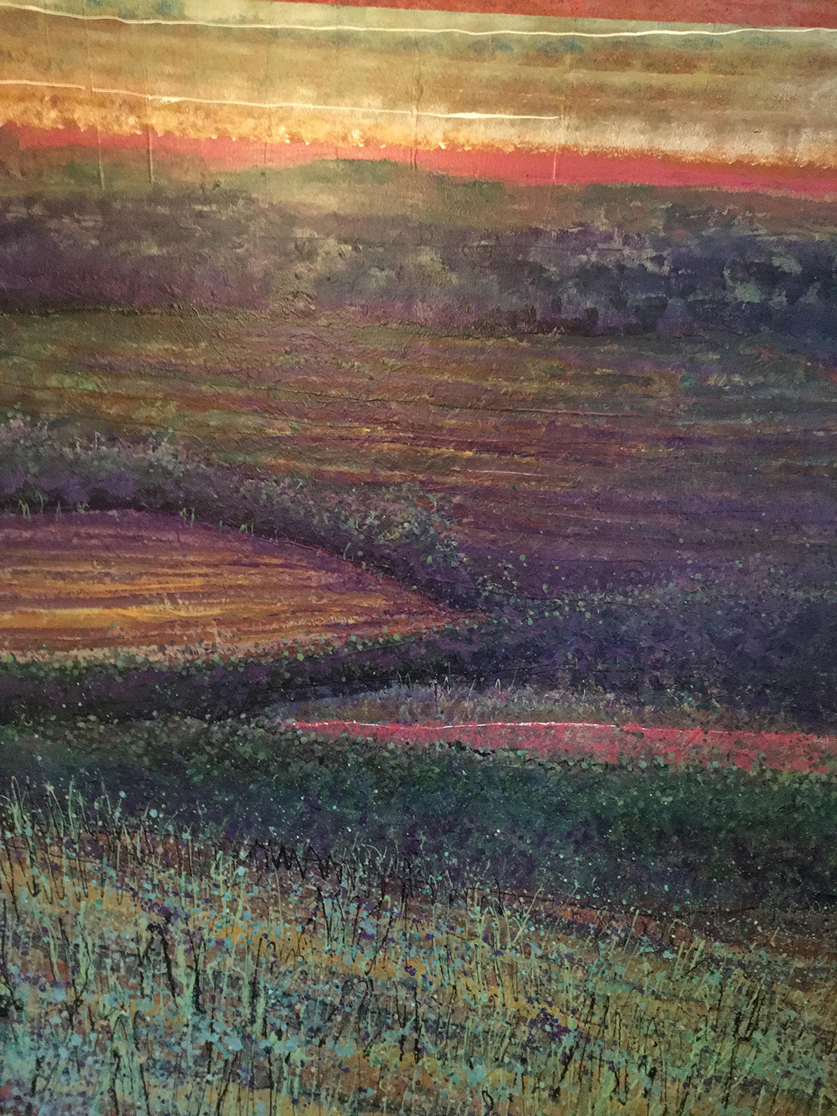 Painting by Keith Patterson. Clarke County Landscape.
