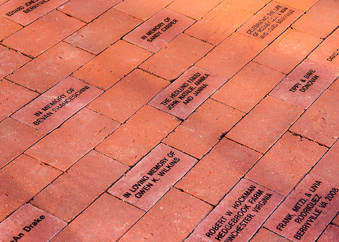 Commemorative Bricks in Front Entrance