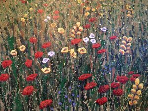 "Painting by Keith Patterson. Summer Garden. 28"" x 40"""